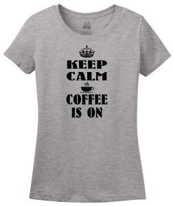 keep calm coffee is on gray
